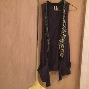 Free People vest with silver sequins